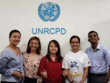 Youth Delegates at UNRCPD office