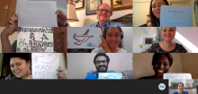 Virtual Meeting of Youth Champions