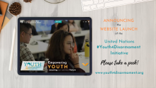 Announcing the website launch of the Youth4Disarmament Initiative. Please take a peek! www.youth4disarmament.org